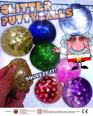 65mm Glitter Puttyballs