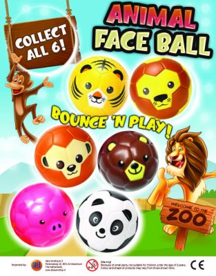 100mm Animal Face PU Balls