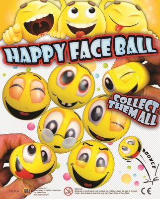 63mm Happy Face PU Ball