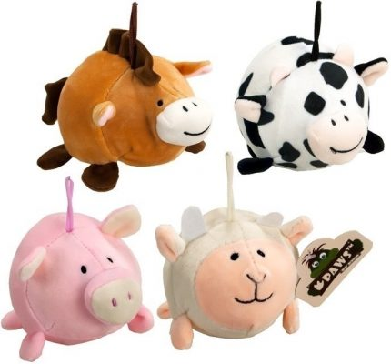 95mm Squeezy Pluche Farm Animals