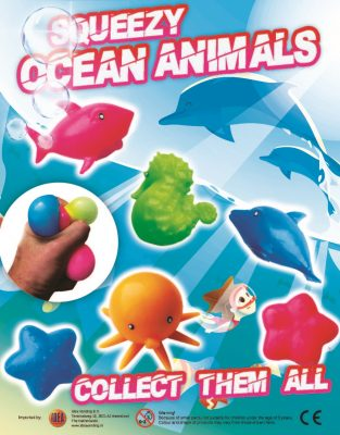 65mm Squeezy Ocean Animals