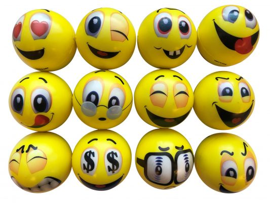 Happy Face PU Ball (45 Mm)