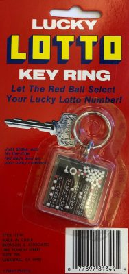 A – Lucky Lotto Keychain