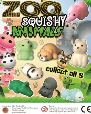 50mm Squishy Zoo Animals