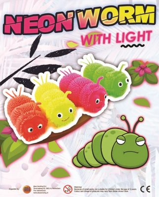 57mm Neon Worm With Light