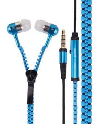 Zipper Buds Blue