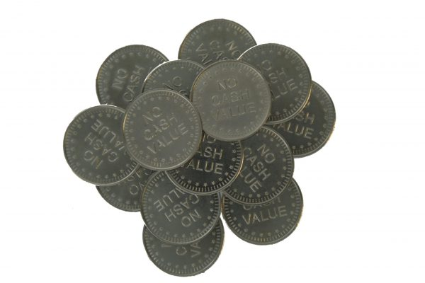 "Token 25*1,80 Mm ""no Cash Value """